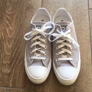 Light Gray Converse Shoes